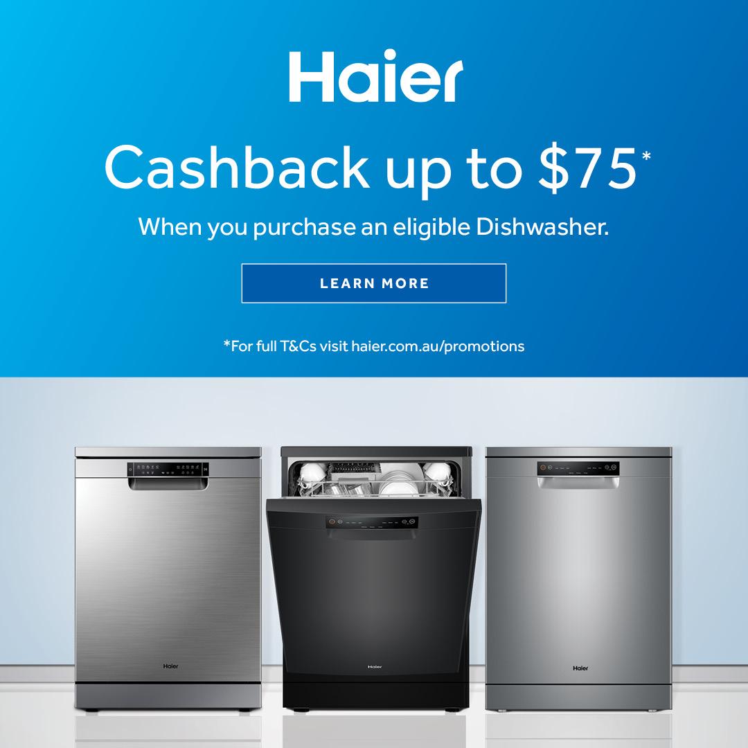 2021 Haier Dishwasher Cashback mobile