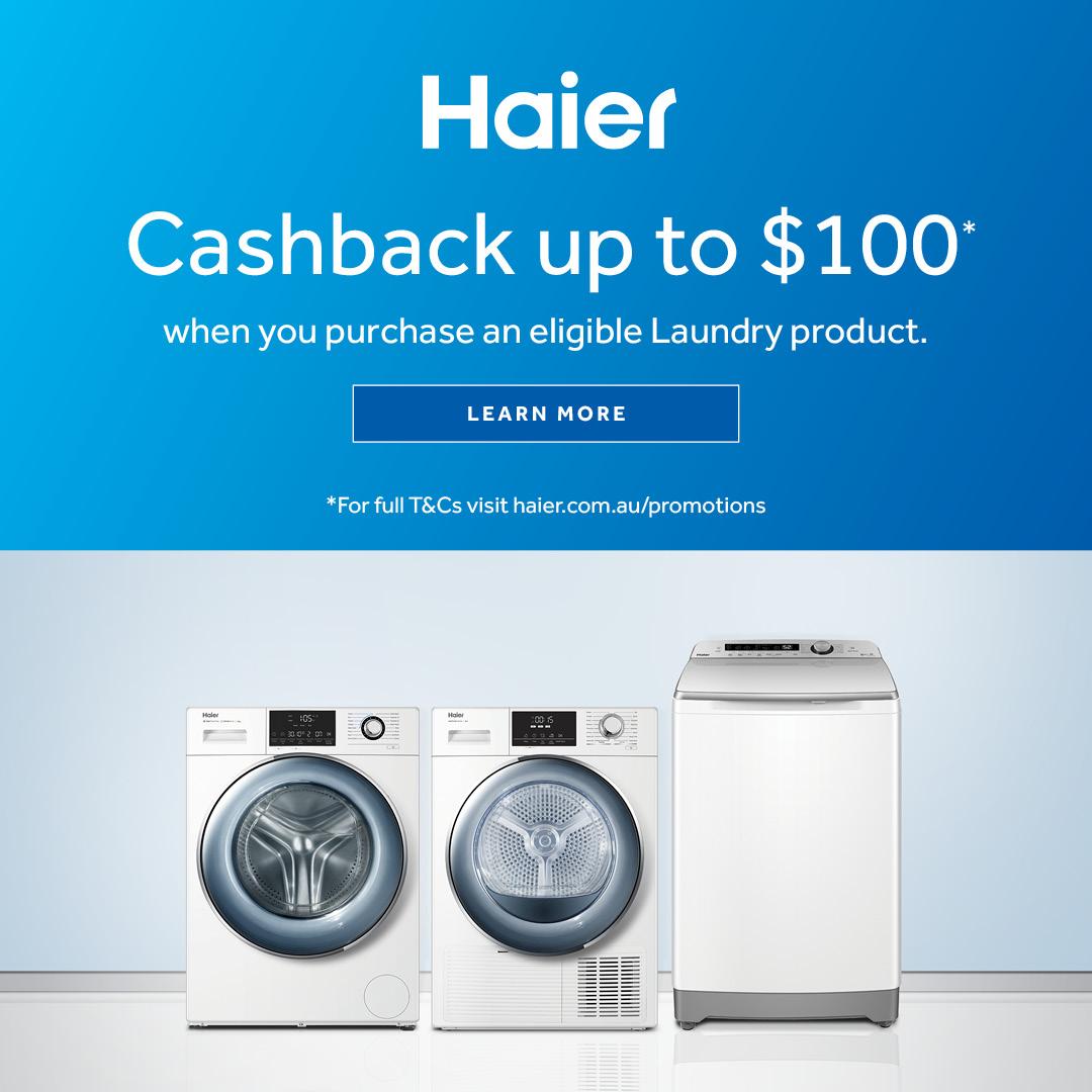 2021 Haier Laundry Cashback mobile
