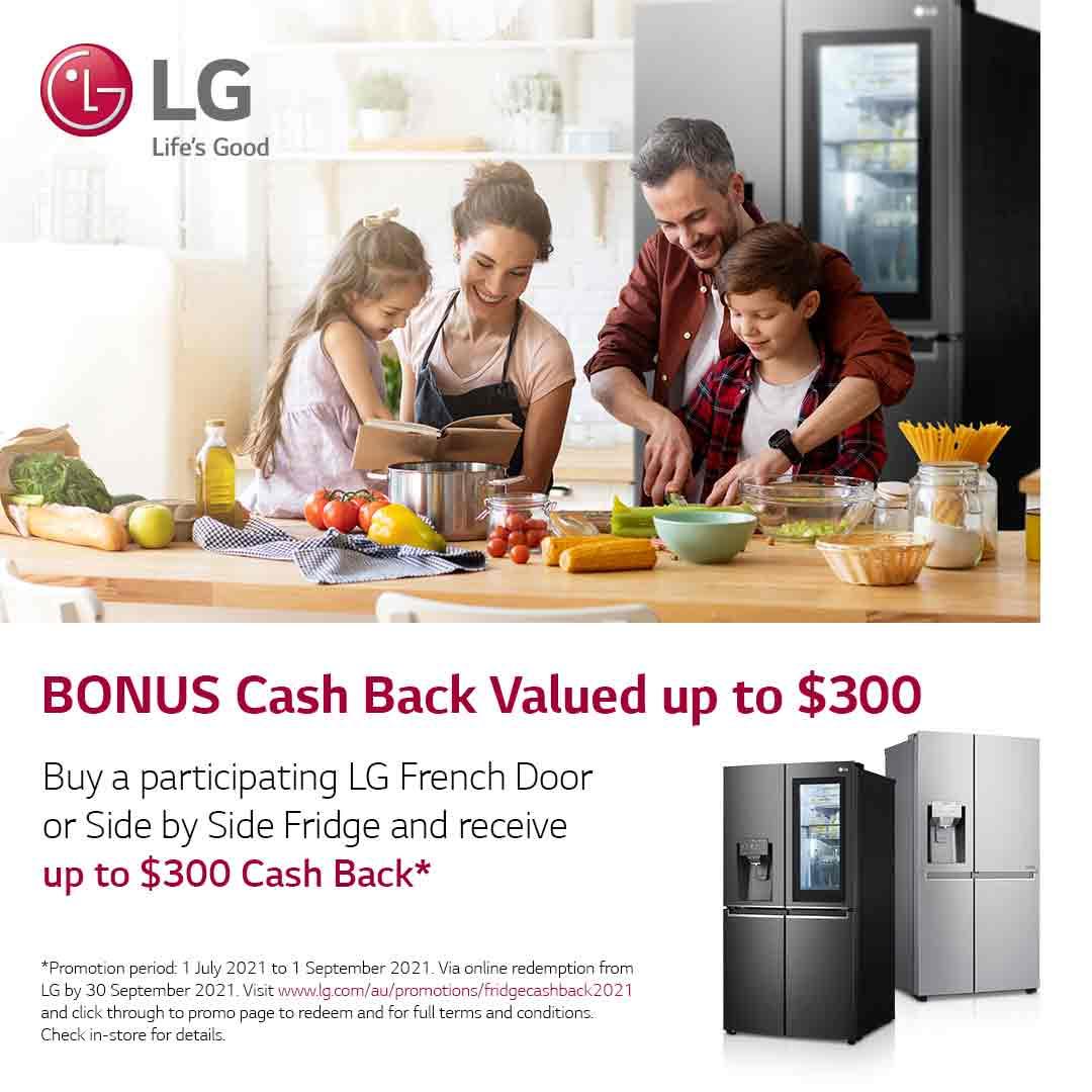 2021 LG French Door Fridge Cashback Mobile
