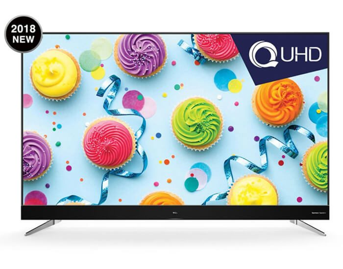 """TCL 75C4US 75"""" LED UHD Edgeless Android TV"""