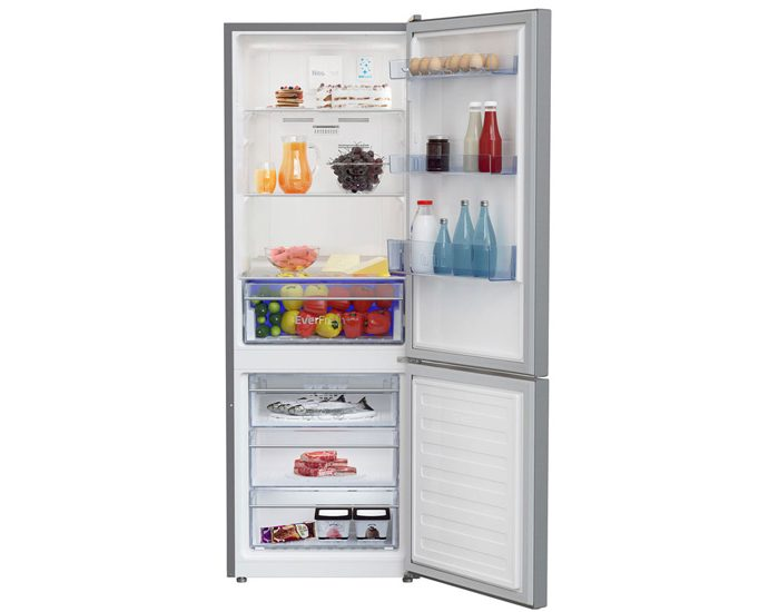 Beko BBM335PX 335L Platinum Bottom Mount Fridge/Freezer
