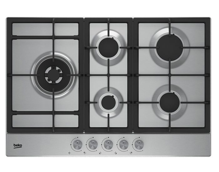 Beko BCT75GX 75cm Stainless Steel Gas Cooktop