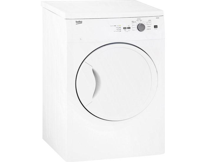 Beko BDV60W 6kg Sensor Controlled Vented Dryer