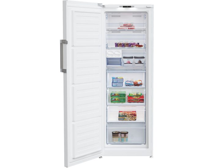 BEKO BVF290W 290L Upright Freezer in White open