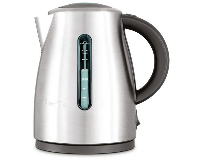 Breville BKE495BSS 1.7L the Soft Top™ Clear Kettle