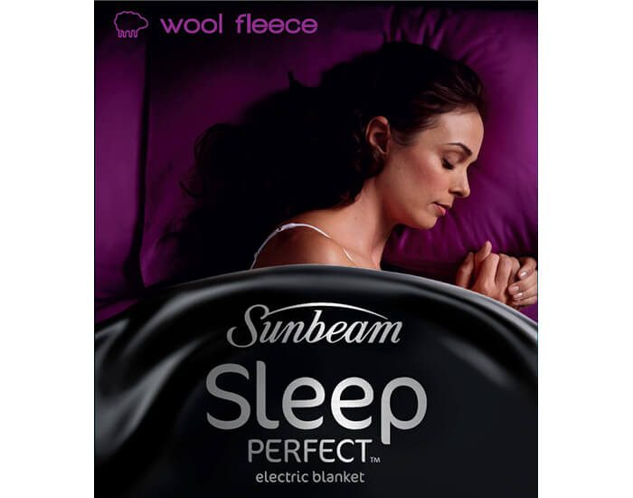 Sunbeam BL5651 Sleep Perfect Queen Wool Fleece
