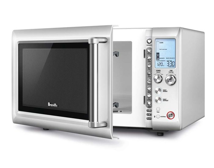 Breville BMO625BSS 900W Quick Touch Compact Microwave - Silver