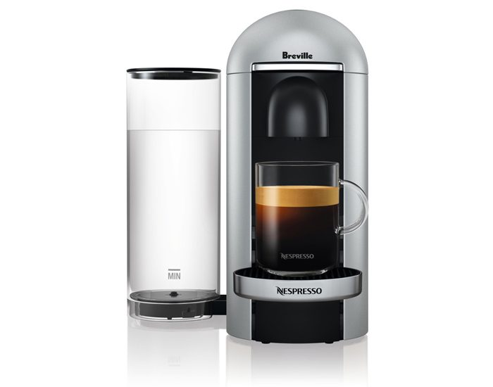 Breville BNV420SIL Vertuo Plus Black Deluxe Coffee Machine - Silver