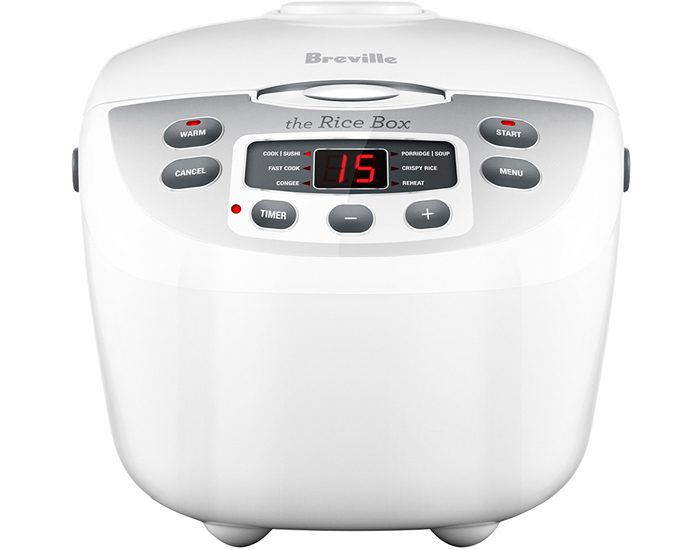 Breville BRC460WHT 10 Cup the Rice Box™ Rice Cooker