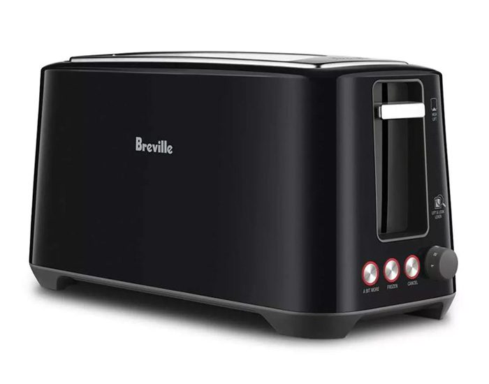 Breville BTA380BKS 4 Slice the 'Lift & Look'™ Plus Toaster - Black Sesame