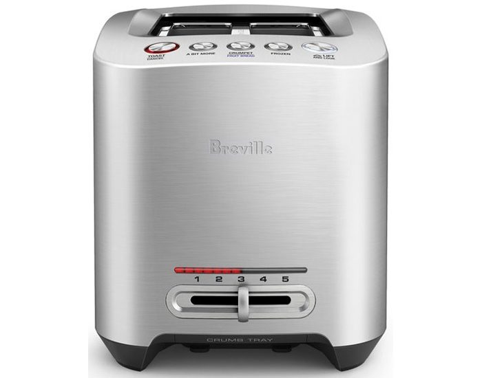 Breville BTA825BSS 2 Slice the Smart Toast™ Toaster