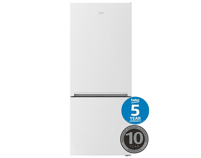Beko BBM450W1 450L White Bottom Mount FridgeFreezer Main