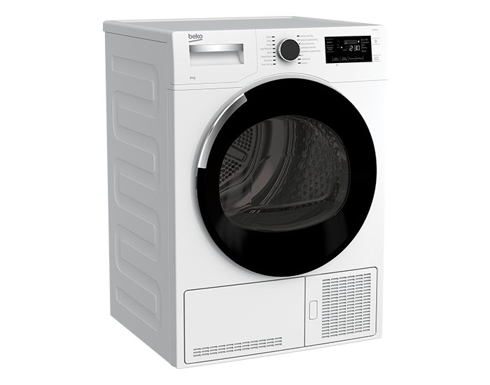 Beko BDC830W 8 KG Sensor Controled Condensor Dryer Angle View