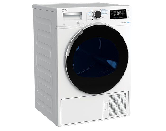 Beko BDP83HW 8kg Sensor Controlled Vented Dryer Angle