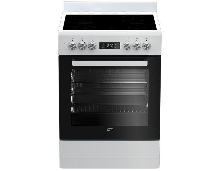 Beko BFC60VMW1 60cm White Vitroceramic Upright Cooker