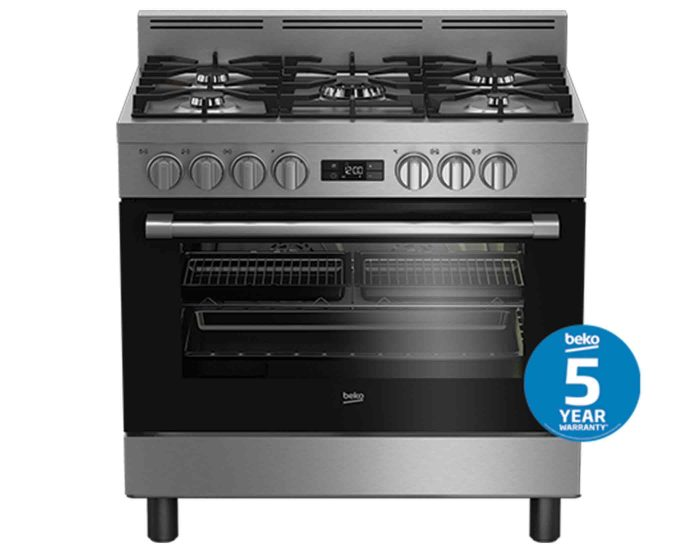 Beko BFC916GMX1 90cm Stainless Steel Dual Fuel Freestanding Multifunction Cooker Main