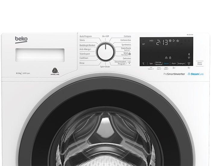 Beko BFL8510W 8.5Kg Front Load Washer Controls