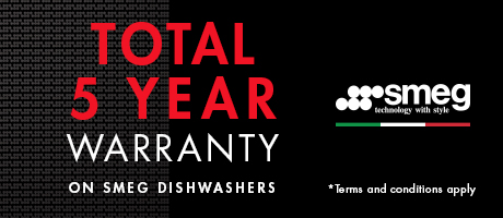 2021 SMEG Dishwasher 5 Year Warranty