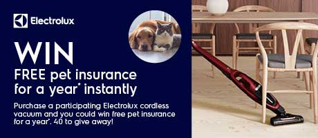 2021 Electrolux Free Pet Insurance for a Year