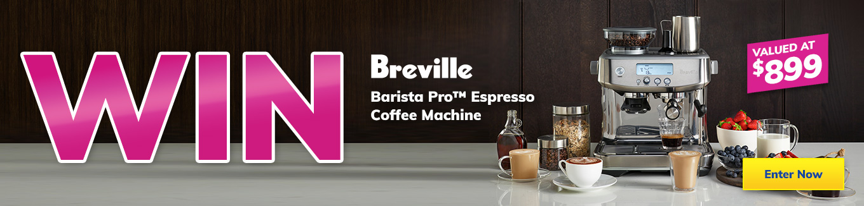 2021 June Giveaway Breville Coffee Machine desktop