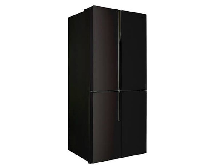 CHiQ CFD462GB 463L Black Glass Four Door Fridge