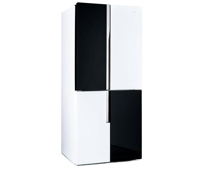 CHiQ CFD463WBG 463L Black Four Door Fridge