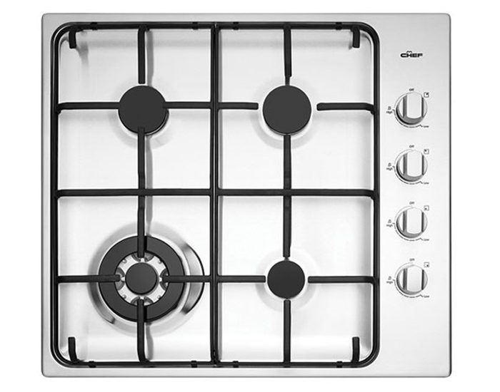 Chef CHG646SB 60cm Stainless Steel Gas Cooktop with Wok