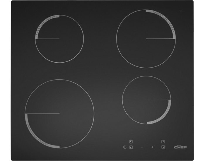 Chef CHI643BA 60cm Black Ceramic Electric Cooktop