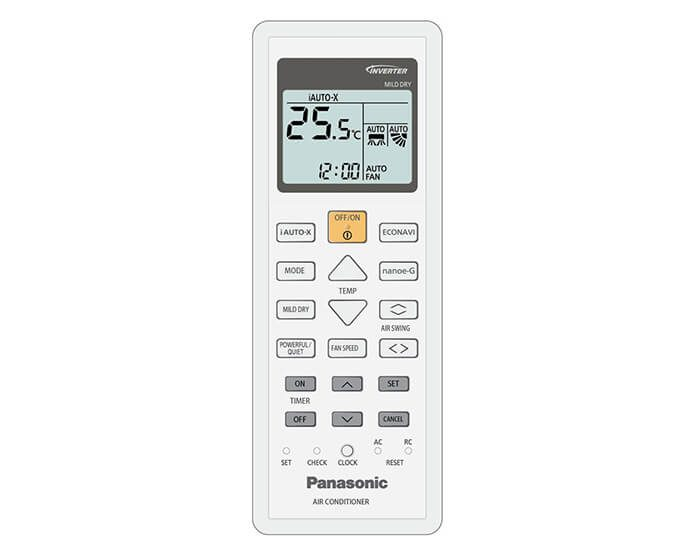Panasonic CSCUZ50TKR 5.0kw Reverse Cycle Split System Airconditioner ECONAVI