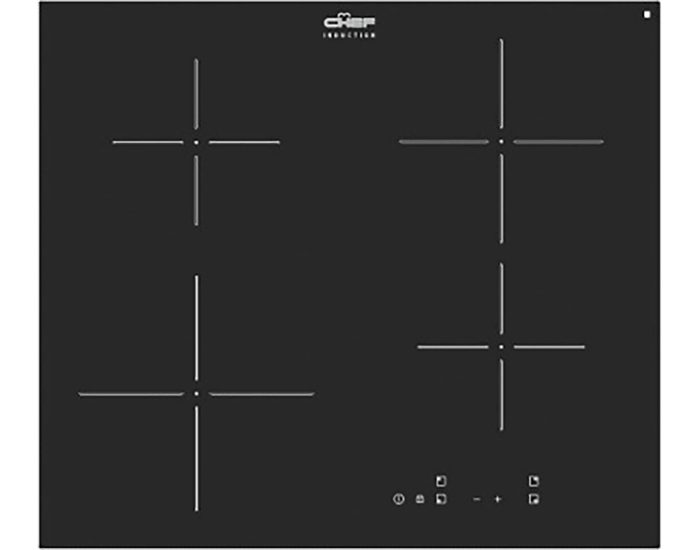 Chef 60cm 4 Zone Induction Cooktop CHI644BB Main