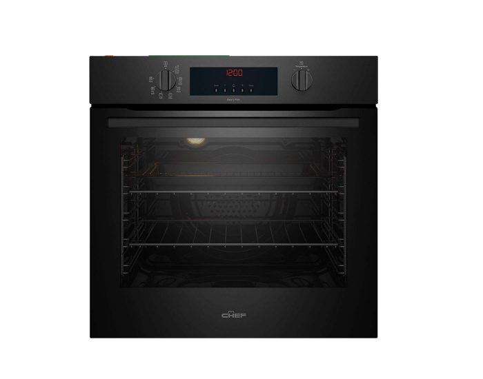 Chef 60cm Multifunction Oven with Pyro Clean CVEP614DB Main