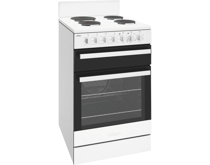 Chef CFE535WB 54cm White Freestanding Cooker Main