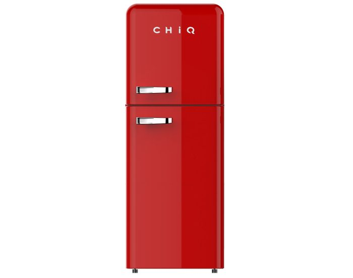 Chiq CRTM212R 216L Retro Style Top Mount Refrigerator in Red main