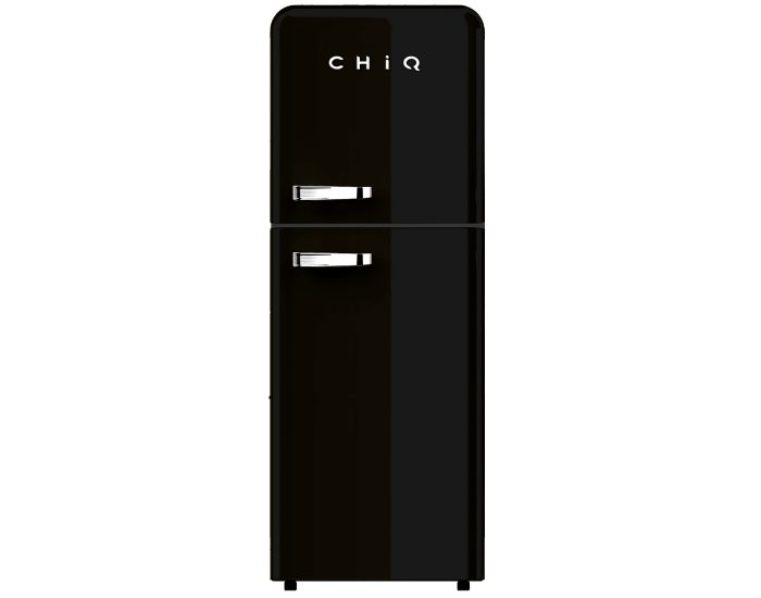 Chiq CRTM213B 216L Retro Style Top Mount Fridge in Black main