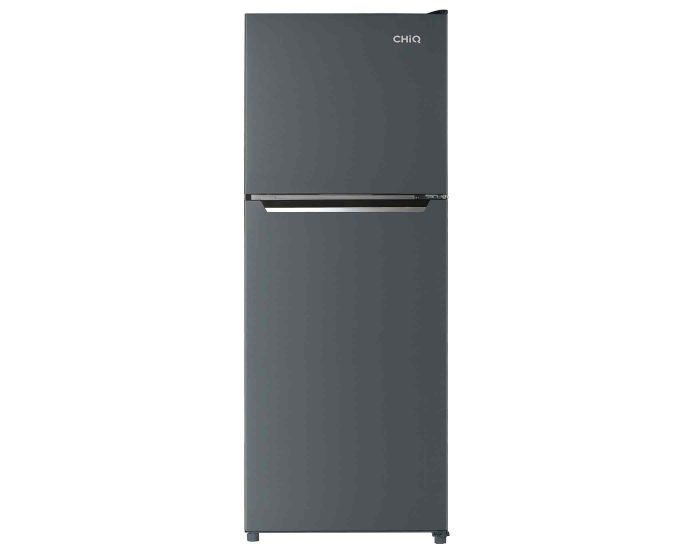 Chiq CTM318B 320L Top Mount Fridge in Black Steel main