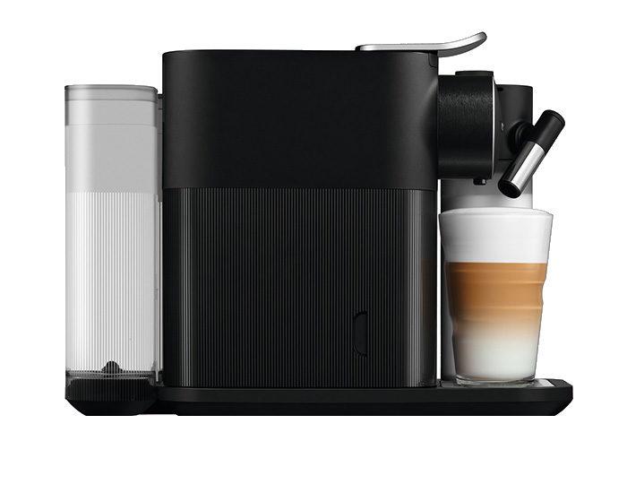 DeLonghi EN650B Gran Lattissima Coffee Machine Side Latte