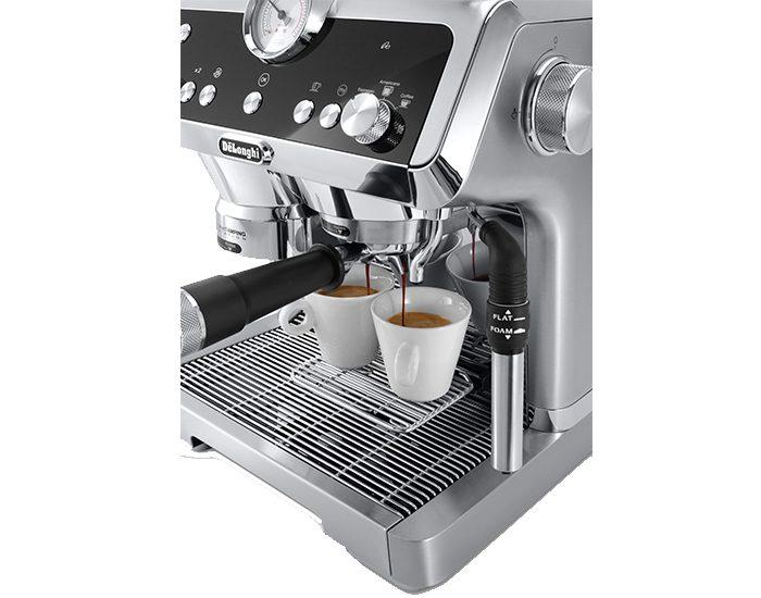 Delonghi EC9335M La Specialista Maual Coffee Machine Angle Dispenser