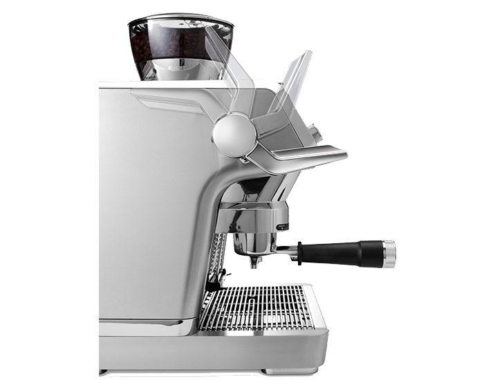Delonghi EC9335M La Specialista Maual Coffee Machine Angle Side View