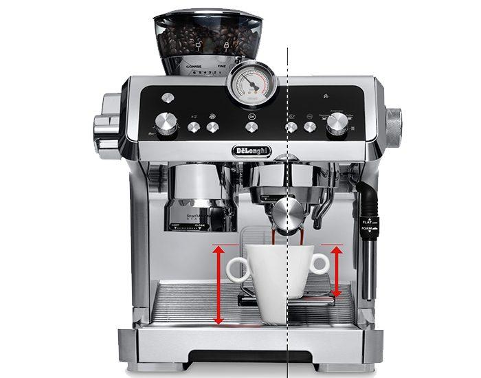 Delonghi EC9335M La Specialista Maual Coffee Machine Aspect Cup Shot