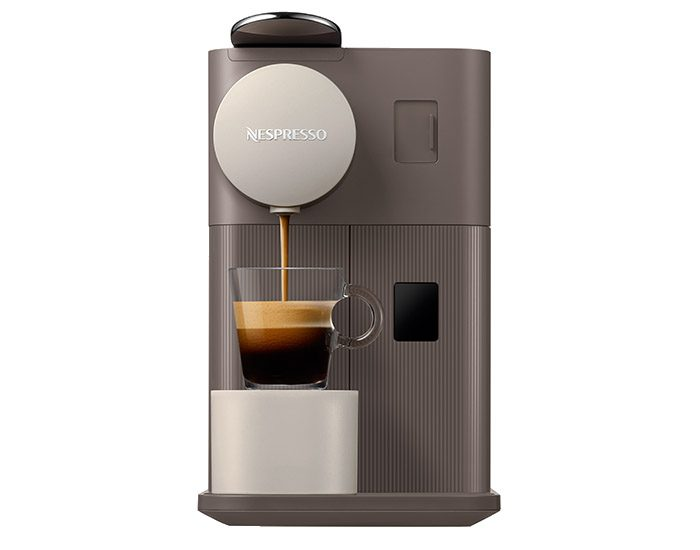 Delonghi EN500BW Lattissima One Coffee Machine Front Espresso