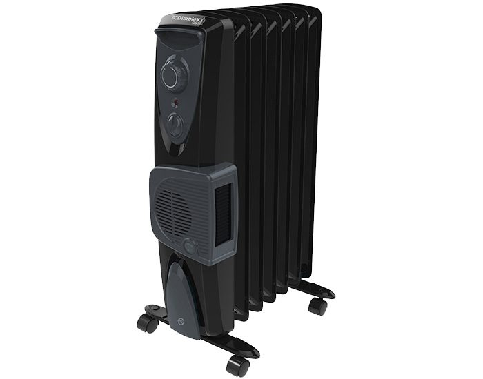 Dimples OFRC15TFNB 1.5Kw Black Eco Column Heater With Fan Main