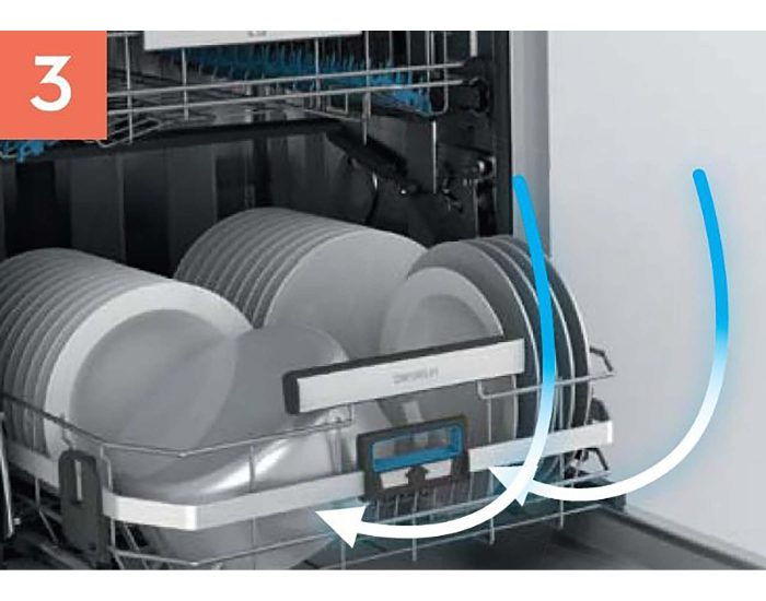 Electrolux 60cm Built-Under Dishwasher with Comfort Lift ESF8735RKX 3