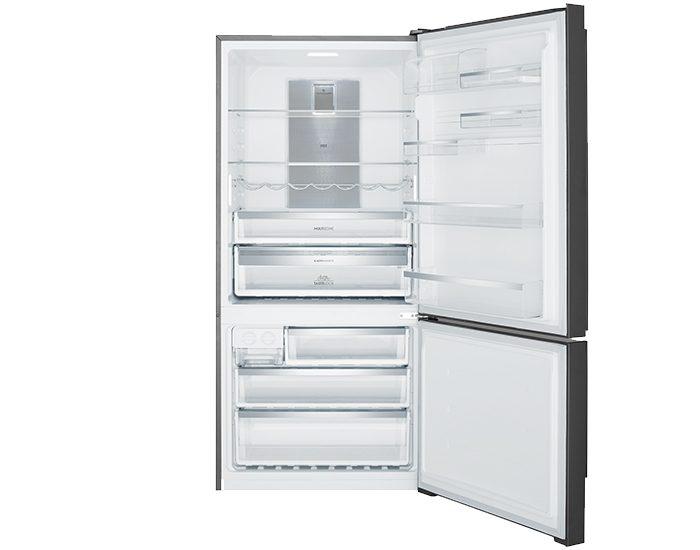 Electrolux EBE5307BBR 529L Dark Stainless Steel Bottom Mount Refrigerator Right Hinge Open