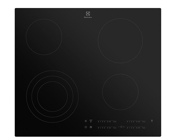 Electrolux EHC644BB 60cm 4 Zone Ceramic Cooktop