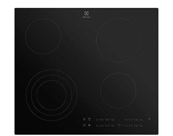 Electrolux EHC644BB 60cm 4 Zone Ceramic Cooktop