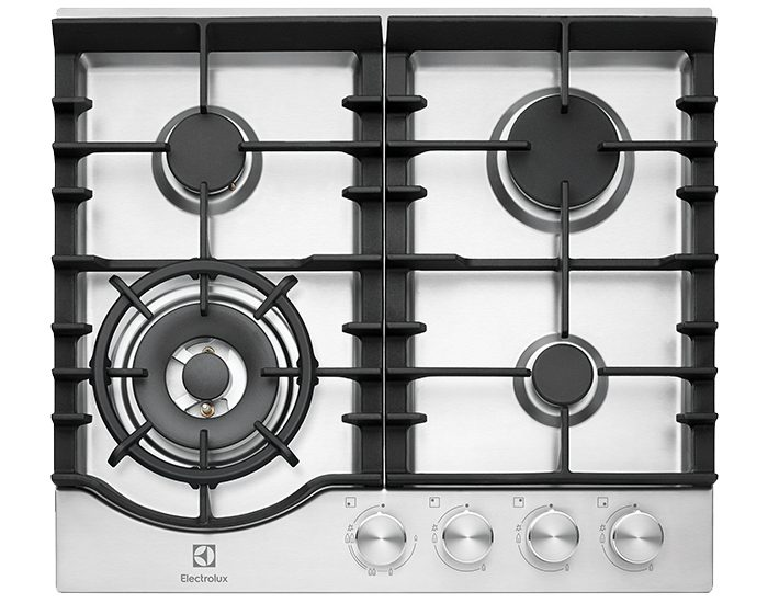 Electrolux EHG645SD 60cm 4 Burner Stainless Steel Gas Cooktop