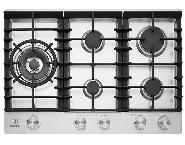 Electrolux EHG755SD 75cm 5 Burner Stainless Steel Gas Cooktop