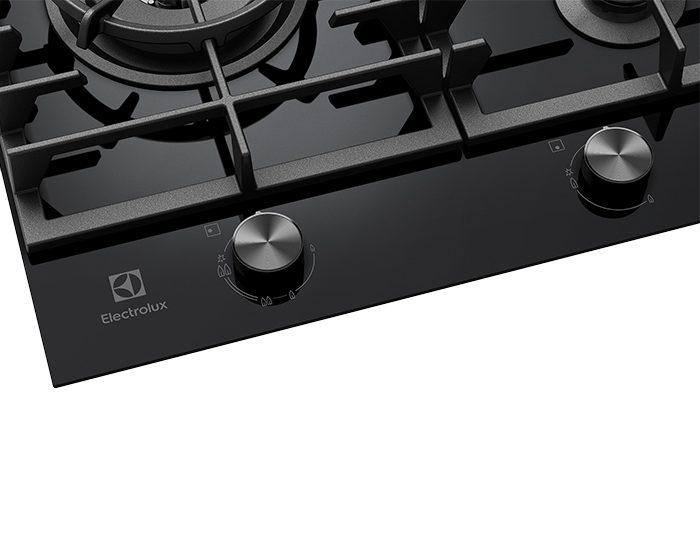 Electrolux EHG955BD 90cm 5 Burner Black Ceramic Glass Gas Cooktop Controls