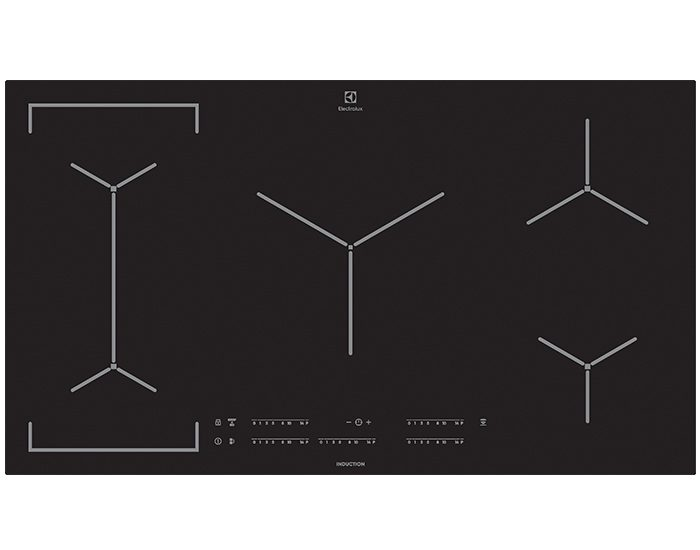 Electrolux EHI955BD 90cm 5 Zone Induction Cooktop With MaxiZone
