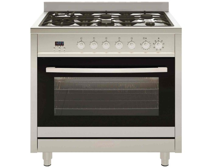 Euromaid EG90S 90cm Stainless Steel Freestanding Dual Fuel Upright Cooker Main